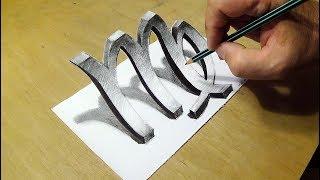 Drawing 3D Symbol Virgo - Trick Art Zodiac Symbol by Vamos