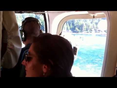 Leaving Langara Island by Helicopter 2010