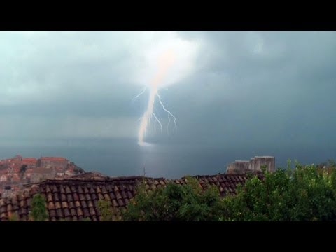 Dubrovnik, Thunderstorm & Waterspout