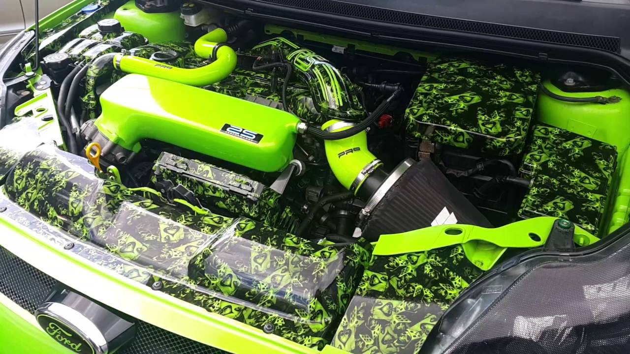 Hydro Dipped Engine Bay Ford Focus Rs Mk2 Youtube