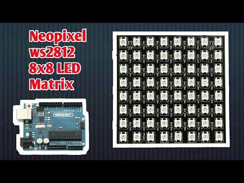 Adafruit Neopixel 8x8 led matrix with Arduino individually addressable led  matrix