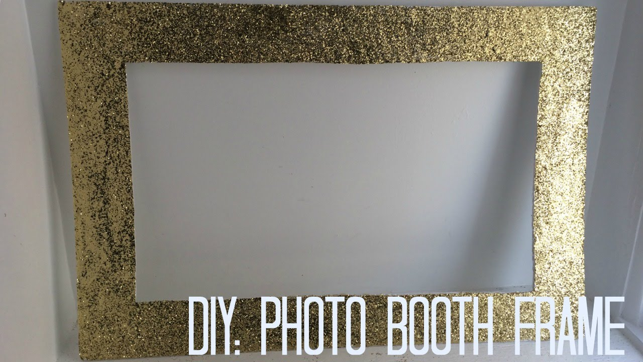diy photo booth frame youtube