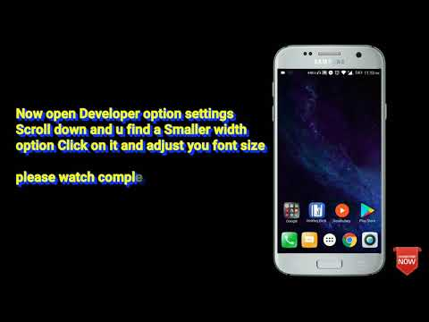 How To Change Font Size And Icon Size In Android | Very Easy  ( Using Developer Option )
