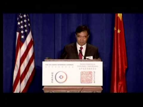 His Excellency Wang Yang, Vice Premier of the State Council, People's Republic of China, S&ED 2013