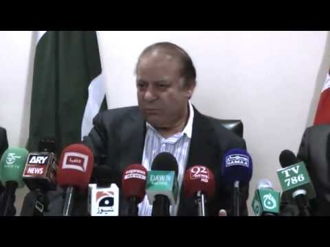 Prime Minister Nawaz Sharif's Media interaction at Luton London UK