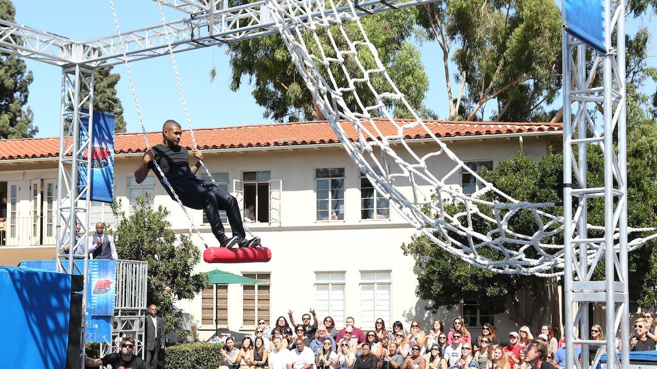 Usher Becomes an American Ninja Warrior