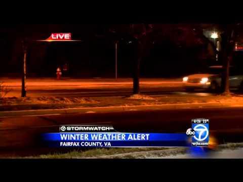Wintry weather in Fairfax County, Va.
