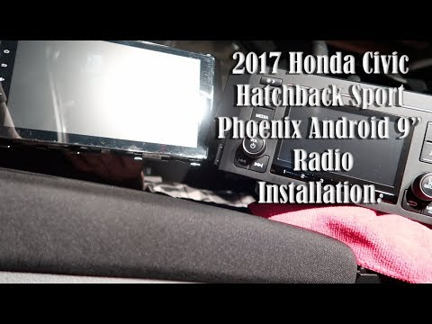 "Phoenix Android Radio 9"" Installation Video 2017 Honda Civic"