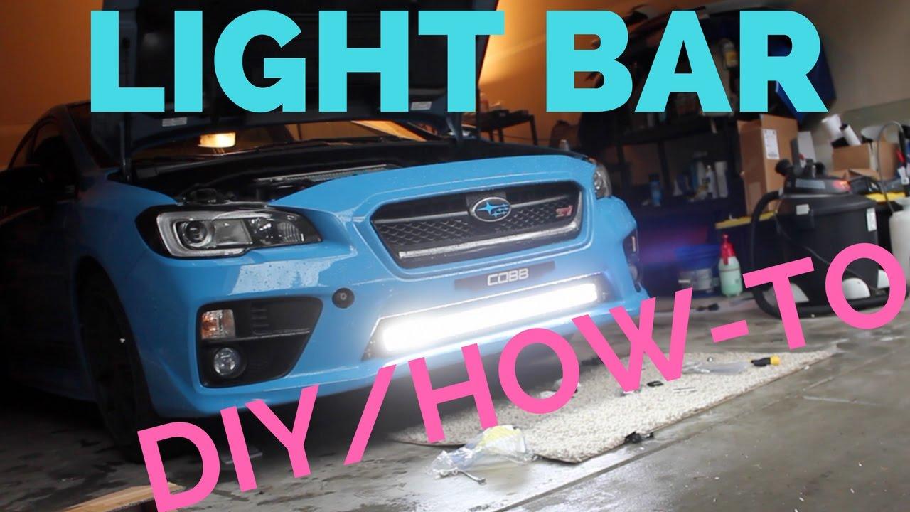 Auxbeam led lightbar how to 2016 subaru hyper blue sti youtube aloadofball Choice Image