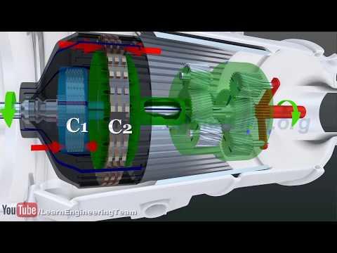 Принцип работы  автоматической коробки передач (3D-анимация)
