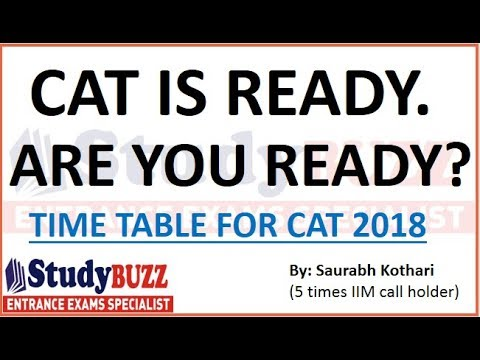 Are you ready for CAT 2018? Complete time table with strategy!