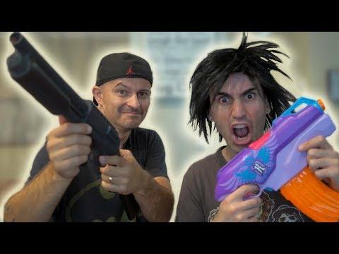 Download Youtube: NERF WAR: SHOTGUN vs NERF GUN!