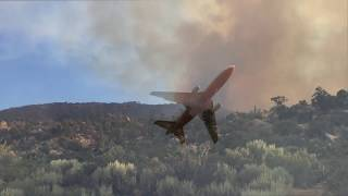 Helicopters Pull Water from Big Bear Lake to Drop on Holcomb Fire