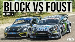 Forza Horizon 4 - Ken Block VS Tanner Foust - Gymkhana 10 Ford Focus VS Volkswagen GRC Beetle