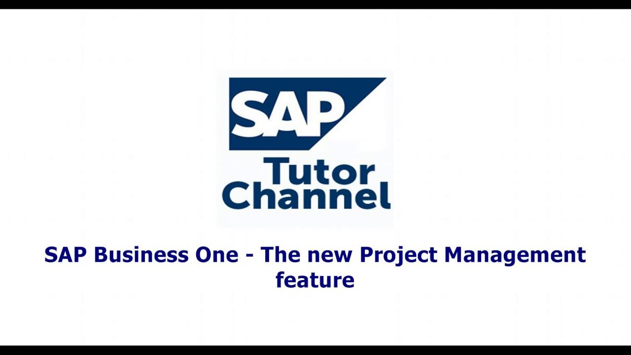 SAP Business One 9 2   The new Project Management feature