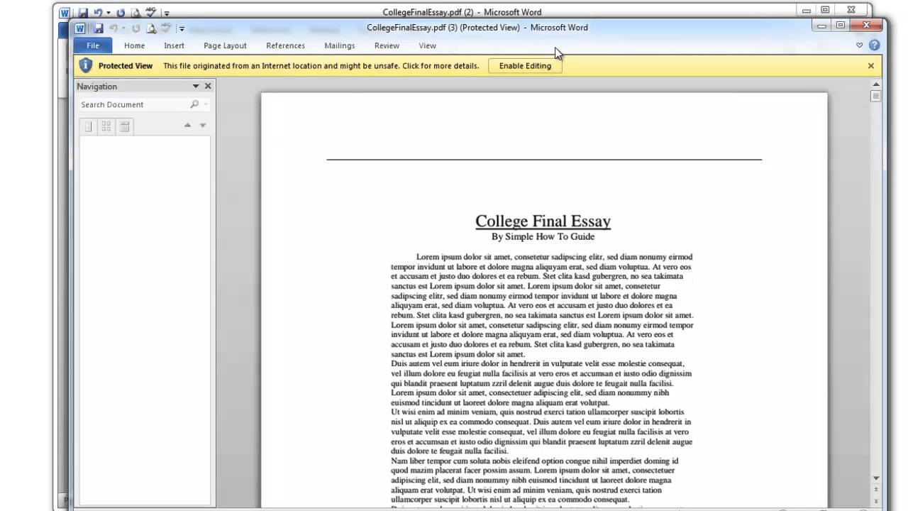 export pdf to word document