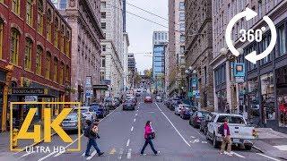 Seattle Downtown   City Tour 360 VR   4K Video. Part 2   1 HR