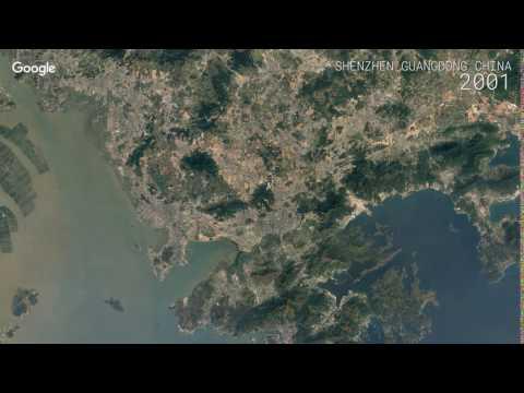 Google Timelapse: Shenzhen, Guangdong, China
