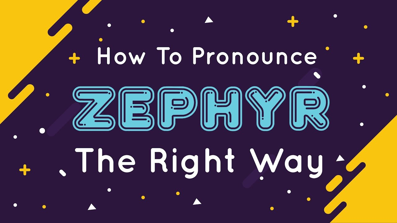 How to pronounce Zephyr  Pronunciation for Zephyr  How to say