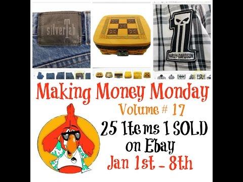 Making Money Monday Vol. 17 EBAY Sales Update Jan 1st - 8th