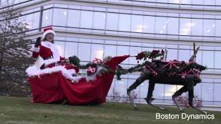 Boston Dynamics Robot Christmas Sled