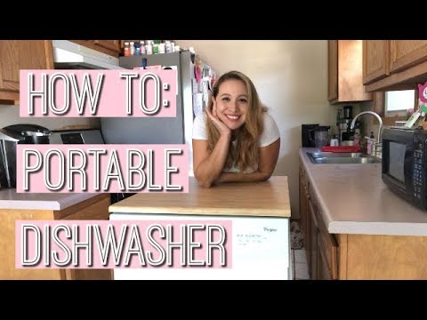 HOW TO USE A PORTABLE DISHWASHER l CLEAN WITH ME