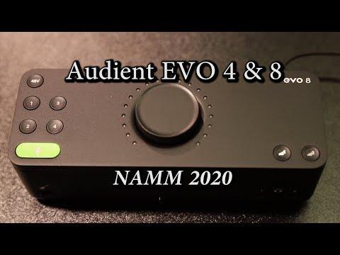 Audient EVO 4 & EVO 8 USB Audio Interfaces - NAMM 2020