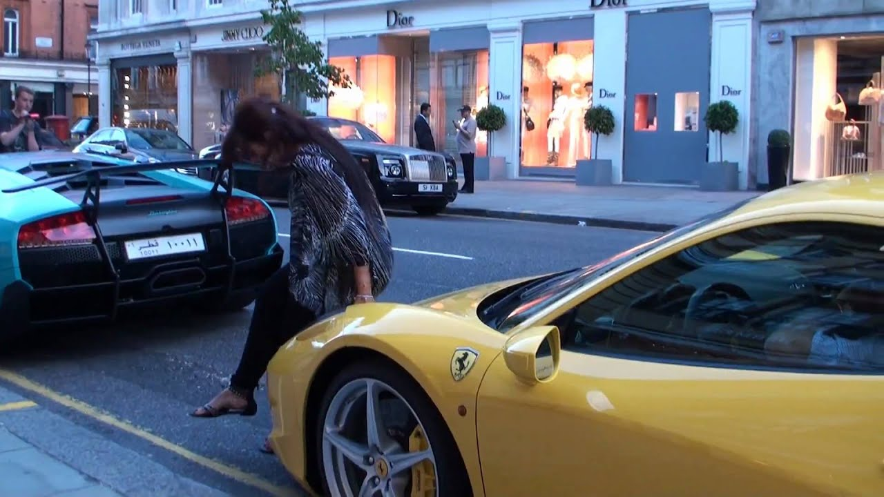 The Effect of Ferraris on Women (458 Italia - posing and number exchange!) b6a5feac3f