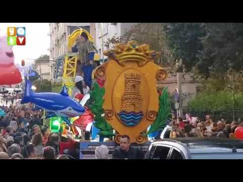 La cabalgata de Reyes Magos pone el colofón a las fiestas navideñas en Algeciras