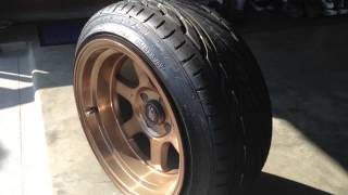 195 45 stretched tires 15x9