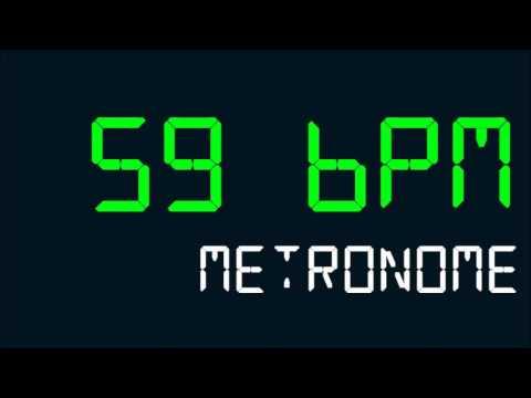 59 BPM (Beats Per Minute) Metronome - YouTube