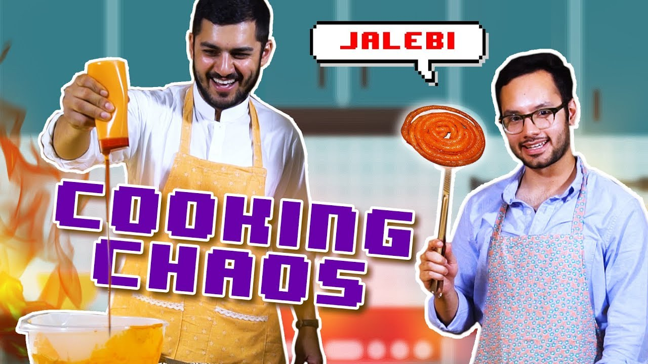 We tried a homemade JALEBI recipe for Ramazan! | Cooking Chaos - Episode 2 | MangoBaaz