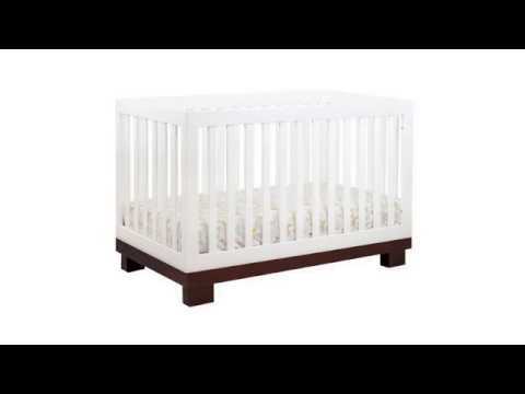 Babyletto Modo 3 in 1 Crib with Toddler Rail, Espresso/White