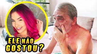 PINTEI O CABELO DE ROSA E FILMEI A REAÇÃO DO MEU PAI!!!!!