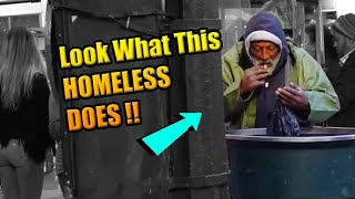 Homeless Eats Out Of TRASH CAN *emotional*