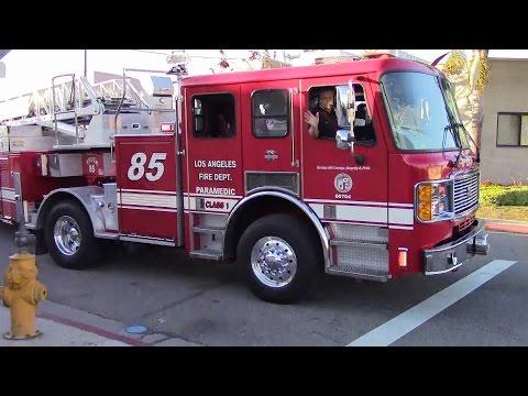 LAFD Light Force 85 Responding
