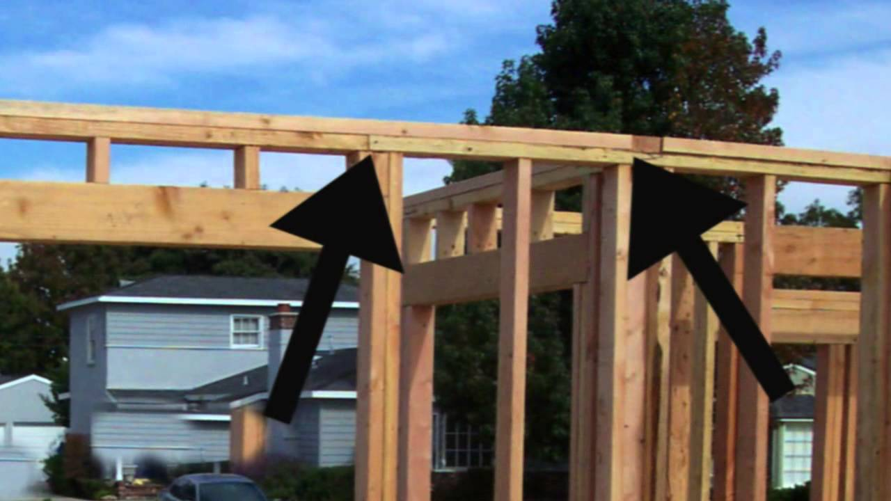 Home Building Tips house framing top plate tips - home building information - youtube