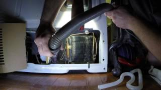 GE Fridge Condensor Coil Clean