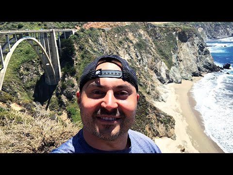 Camping In Big Sur, California & Landslides! - 4K