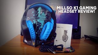 BEST BUDGET GAMING HEADSET 2017 | MILLSO K1 GAMING HEADSET REVIEW!