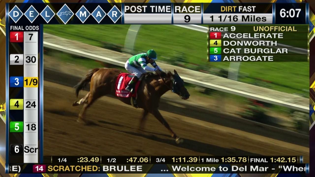 Accelerate wins TVG San Diego Handicap (Gr. II), (Race 9) at Del ...