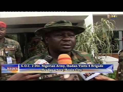 GOC 2 Division Nigeria Army visits 4 Brigade Headquarters, Benin