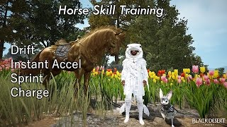 BDO - Horse Skill Training: Drift, Instant Accel, Sprint, Charge