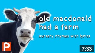 Old MacDonald had a Farm with lyrics | classic old macdonald nursery rhymes