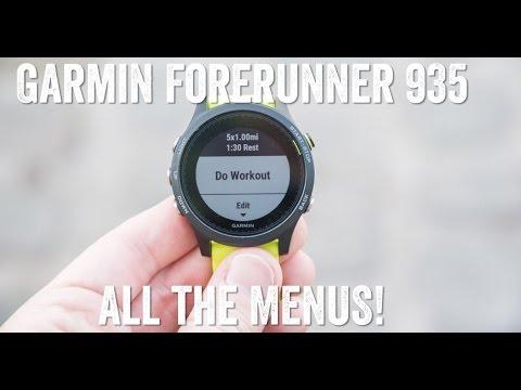 GARMIN FORERUNNER 935 - MENU DEEP-DIVE!