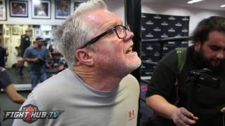 Freddie Roach talks how Errol Spence wobbled Adrien Broner in sparring