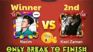 🔥 Kazi VS Nazim 🔥 | ✨ Carrom pool ✨ | Gaming Nazim Carrom pool | Only Break To Finish Carrom Board 😮 screenshot 1