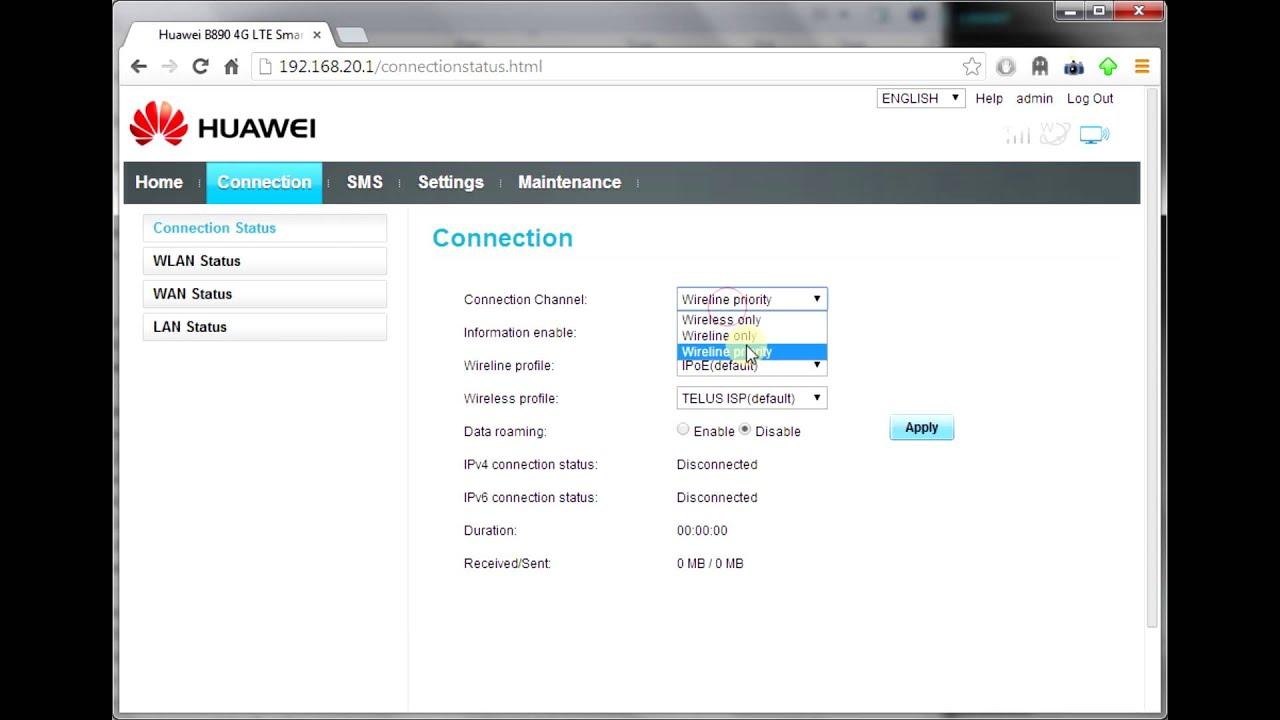 How to setup an APN on the Huawei B890