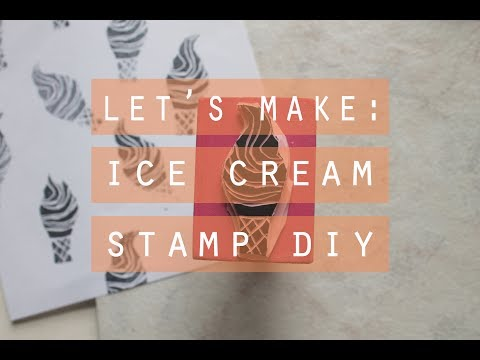 let's make! | ice cream rubber stamp