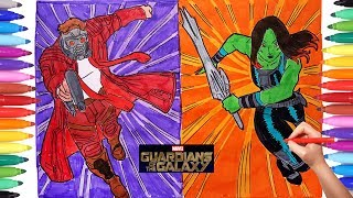 GUARDIANS OF THE GALAXY Coloring Pages | How to Draw Guardians of the Galaxy Characters for Kids